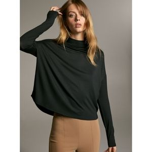 Babaton Black Seaton Turtleneck Shirt
